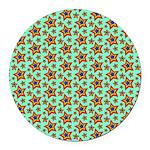 Rainbow Star Pattern Round Car Magnet