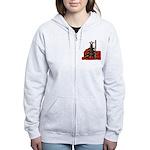 frohe Weihnachten Women's Zip Hoodie