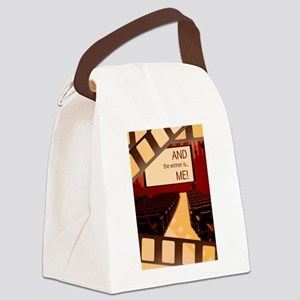 And the Winner Is Me Card Canvas Lunch Bag