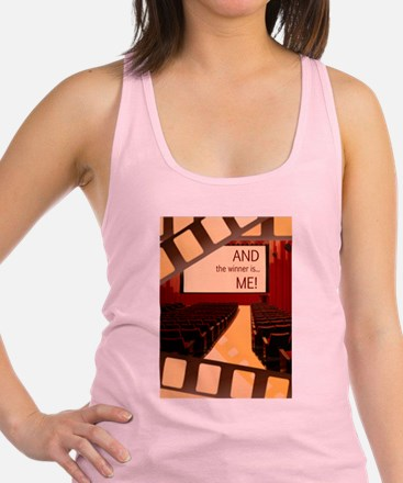 And the Winner Is Me Card.png Racerback Tank Top