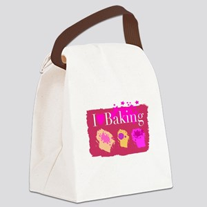 I Heart Baking Canvas Lunch Bag