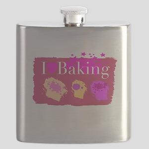 I Heart Baking Flask