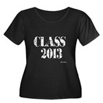 CLASS2013 Women's Plus Size Scoop Neck Dark T-