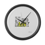 Love Sassy Large Wall Clock
