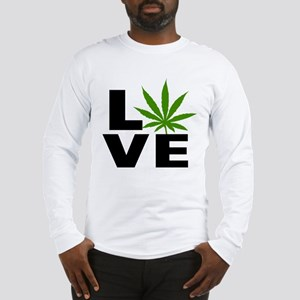 I Love Marijuana Long Sleeve T-Shirt