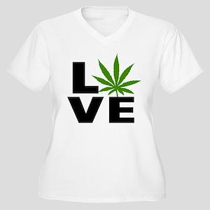 I Love Marijuana Women's Plus Size V-Neck T-Shirt