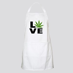 I Love Marijuana Apron