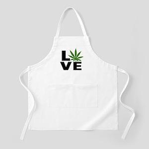 I Love Marijuana Apron