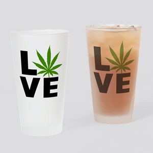 I Love Marijuana Drinking Glass