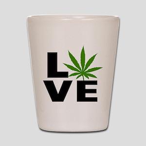 I Love Marijuana Shot Glass