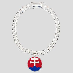 Slovak AF roundel Charm Bracelet, One Charm