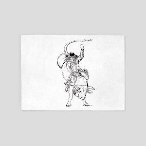bull rider 5'x7'Area Rug