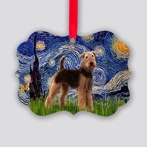 LFP-5.5x7.5-Starry-Airedale6 Picture Ornament
