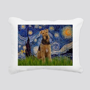 5.5x7.5-Starry-Airedale1 Rectangular Canvas Pi