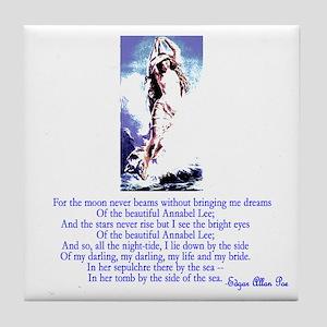 Edgar Allan Poe's Annabel Lee Tile Coaster