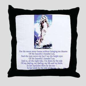 Edgar Allan Poe's Annabel Lee Throw Pillow