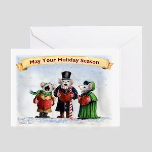 Singing Mice Greeting Card