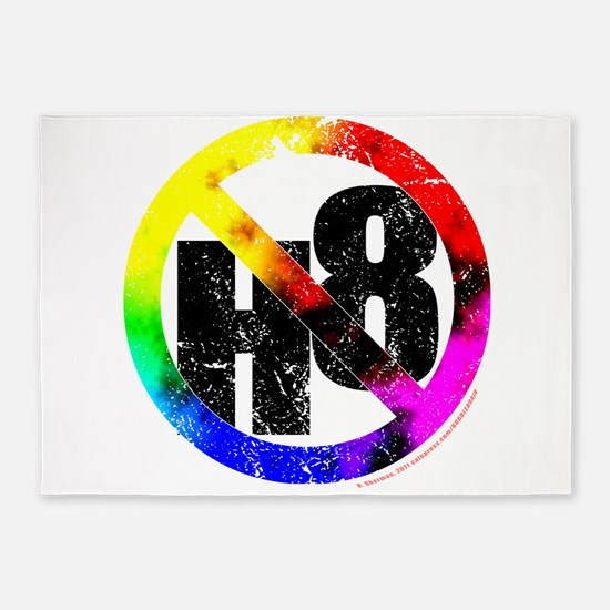 No Hate - < NO H8 >+ 5'x7'Area Rug