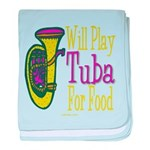 (CP) Will Play Tuba lt baby blanket