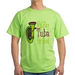 (CP) Will Play Tuba lt Green T-Shirt