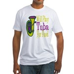 (CP) Will Play Tuba lt Fitted T-Shirt