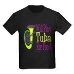 (CP) Will Play Tuba dk Kids Dark T-Shirt