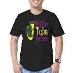 (CP) Will Play Tuba dk Men's Fitted T-Shirt (d