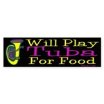(CP) Will Play Tuba dk Sticker (Bumper 50 pk)