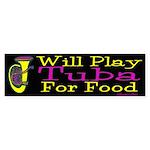 (CP) Will Play Tuba dk Sticker (Bumper 10 pk)