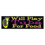 (CP) Will Play Tuba dk Sticker (Bumper)