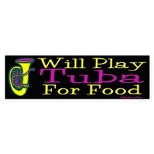 (CP) Will Play Tuba dk Sticker (Bumper)