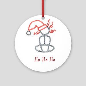 Yoga Christmas Girl Ornament (Round)