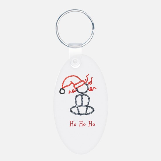 Yoga Christmas Girl Keychains