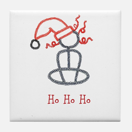 Yoga Christmas Girl Tile Coaster