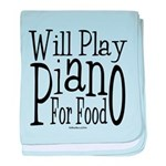 Will Play Piano baby blanket