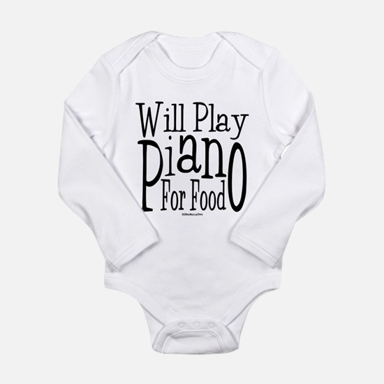 Will Play Piano Long Sleeve Infant Bodysuit