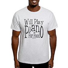Will Play Piano Light T-Shirt