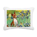 TILE-Irises-Basenji Rectangular Canvas Pillow