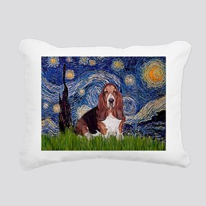 5.5x7.5-Starry-Basset1 Rectangular Canvas Pill