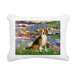 5.5x7.5-Lilies2-Beagle7 Rectangular Canvas Pil