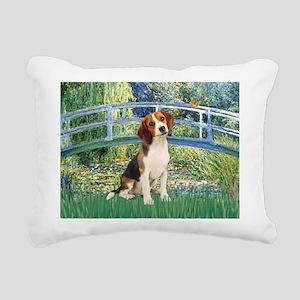 TILE-Bridge1-Beagle1 Rectangular Canvas Pillow