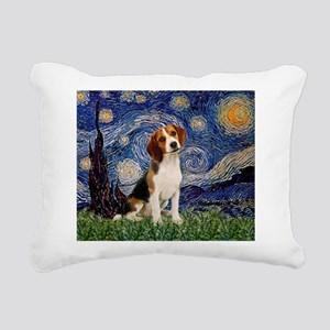 MP-Starry-Beagle1-nc Rectangular Canvas Pillow