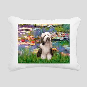Beardie 1 - Bridge Rectangular Canvas Pillow