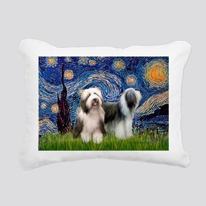 Beardie Pair 1 - Starry Night Rectangular Canv