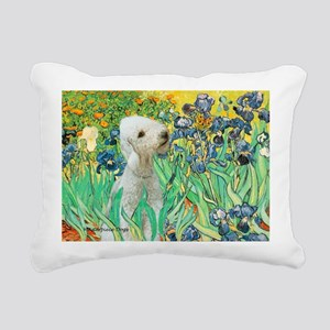 TILE-IRISES-Bedlington1 Rectangular Canvas Pil