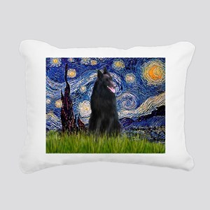 810-Starry-BelgianShep1 Rectangular Canvas Pil
