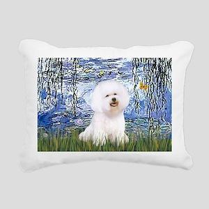 SFP-Lilies6-Bichon1 Rectangular Canvas Pillow