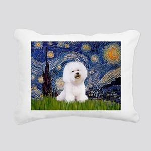 J-ORN-Starry-Bichon1 Rectangular Canvas Pillow