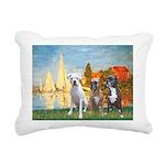 2-Regatta - 3 Boxers Rectangular Canvas Pillow