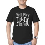 Will Play Piano Men's Fitted T-Shirt (dark)